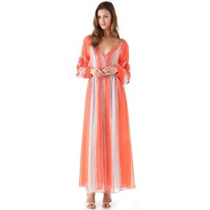 BCBGMAXAZRIA Women's Elicia Peasant Maxi Dress